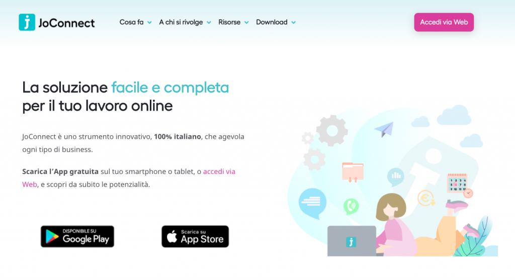 Sito Web JoConnect
